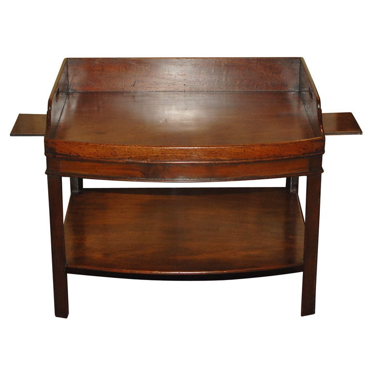 Unusual Bowfront English Georgian Butler 39 S Tray Table At 1stdibs