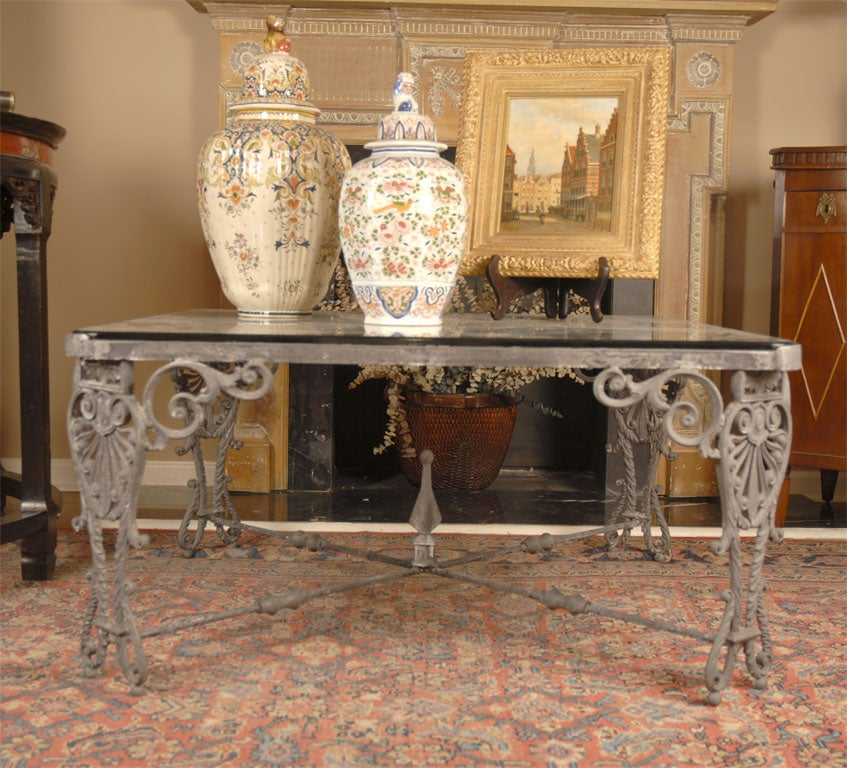 Iron Gate Made Into Coffee Table At 1stdibs