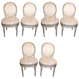 Set of 6 Louis XVI Oval Back Side Chairs