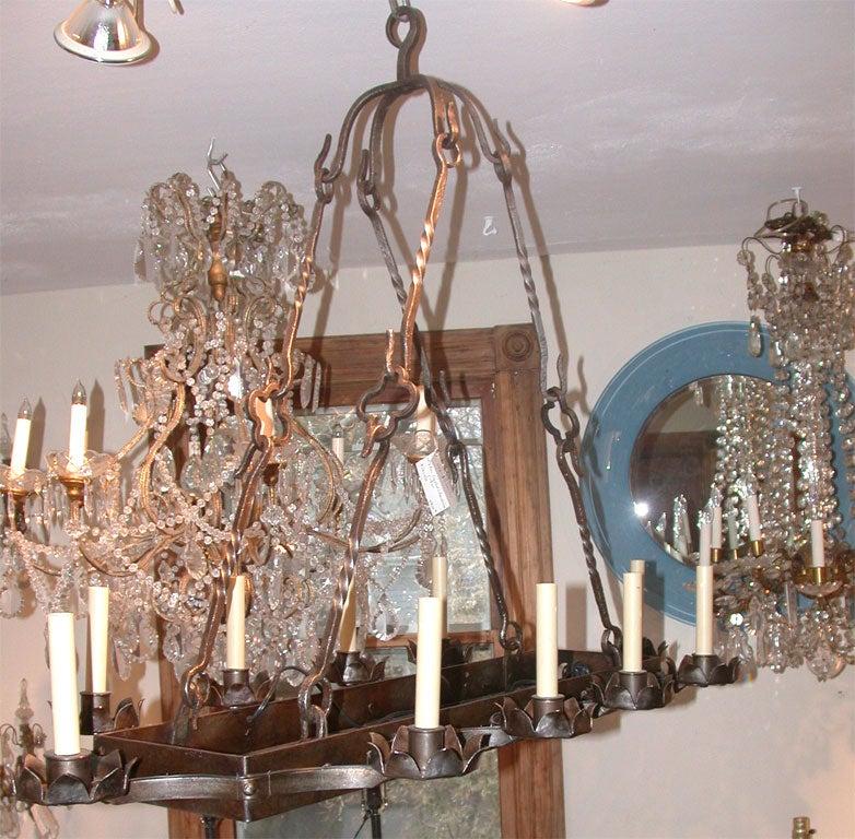 Rectangular Wrought Iron Chandelier Pictures Of Dining: Rectangular Wrought Iron Chandelier At 1stdibs