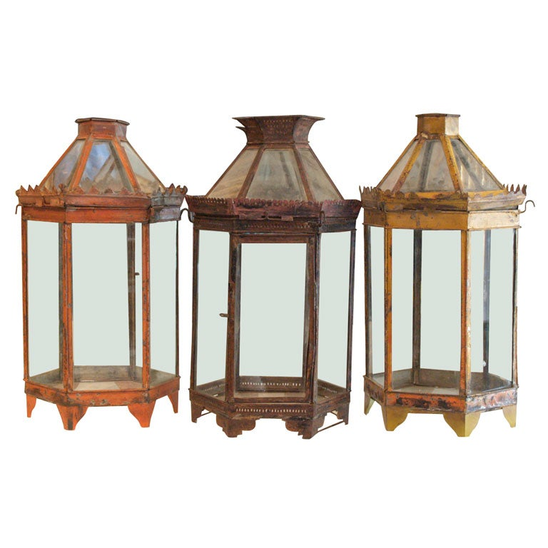 Pair Of Lanterns Note Only Yellow And Red Available At 1stdibs