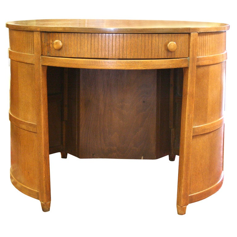 Round arts and crafts desk at 1stdibs for Art and craft desk with storage