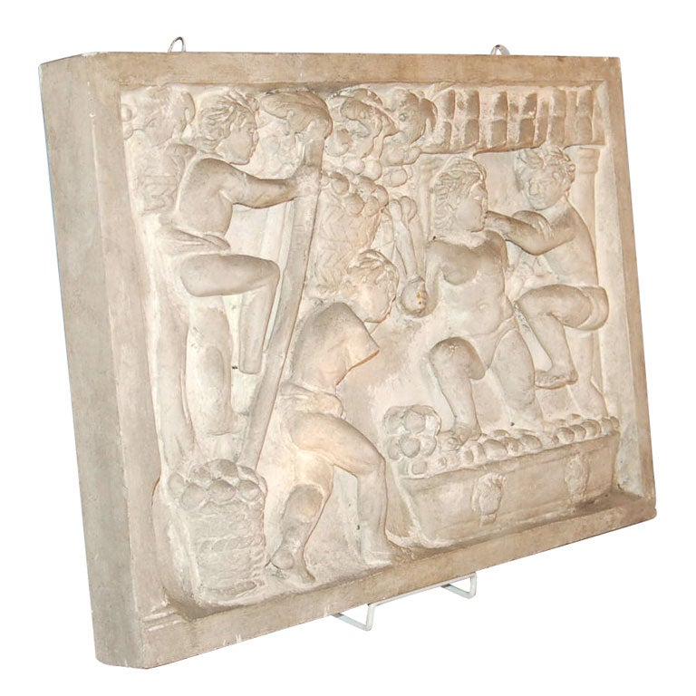 Relief plaster wall sculpture at 1stdibs for Plaster wall art