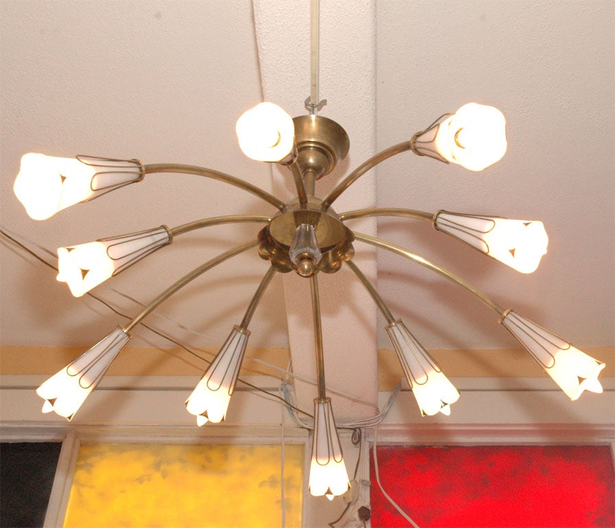 Very romantic yet modern french 1950 39 s chandelier at 1stdibs for Very modern lighting