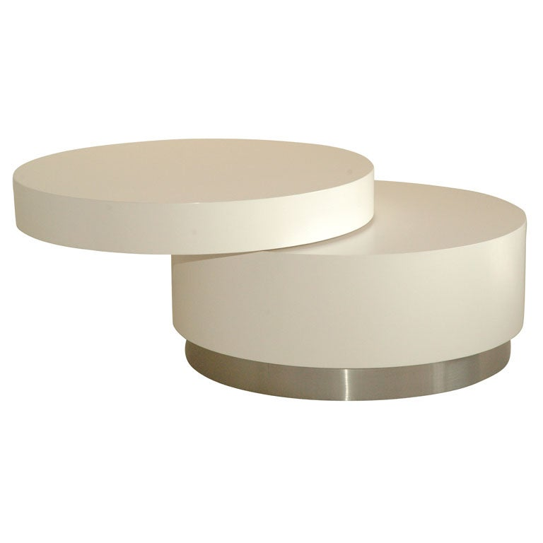 Swivel Coffee Table By Twentieth Modern At 1stdibs
