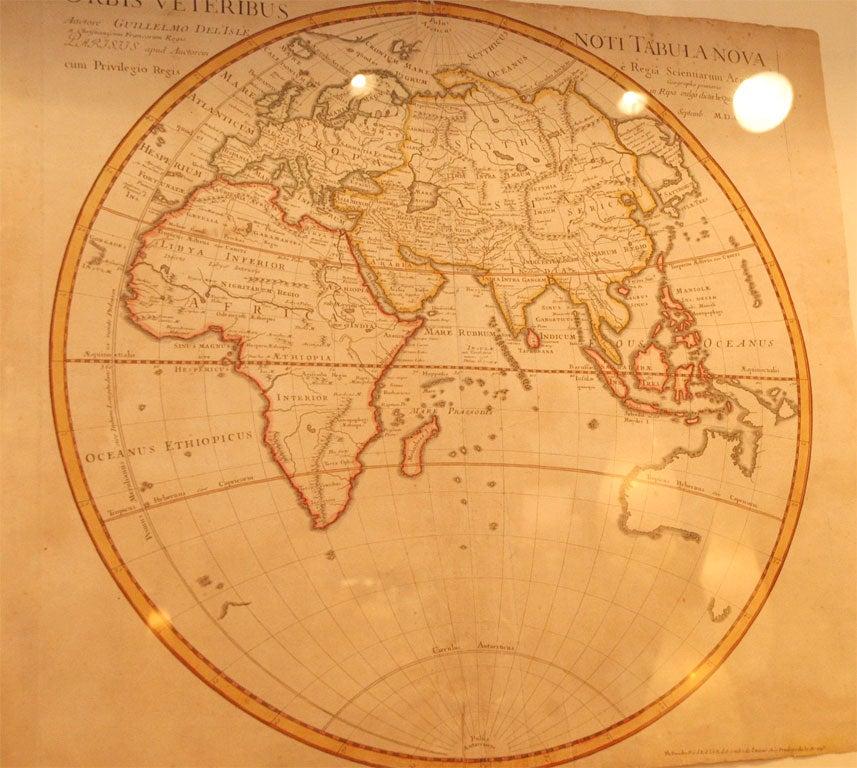 Hemispheres A World Of Fine Furnishings: Eastern Hemisphere Map At 1stdibs