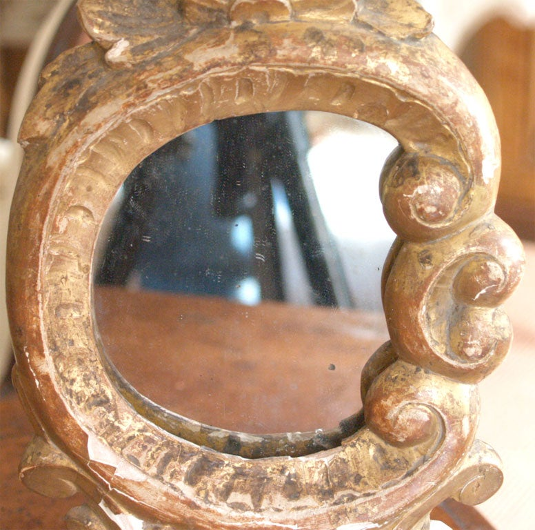 Miniature Louis XV Mirrors Mounted on Bronze Bases and with Picture Lights 5