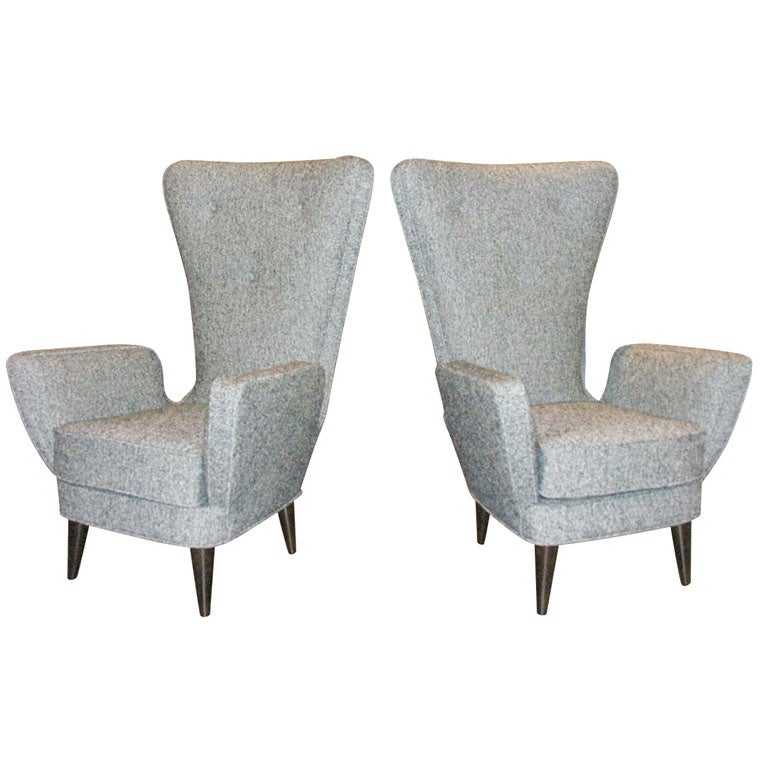 Attilio & Renzo Abbondi - Pair of Sculptural Arm Chairs by A. & R. Abbondi
