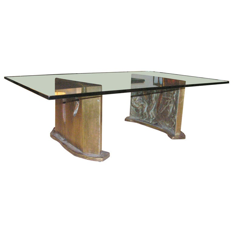 Very Rare Cocktail Table By Philip And Kelvin Laverne At