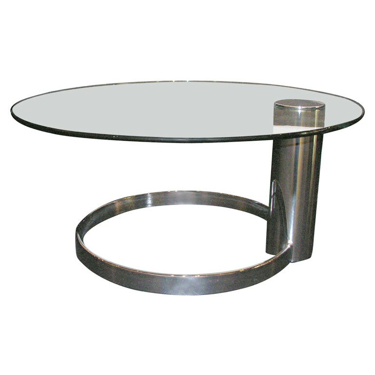 Pace Cantilever Glass Cocktail Table At 1stdibs