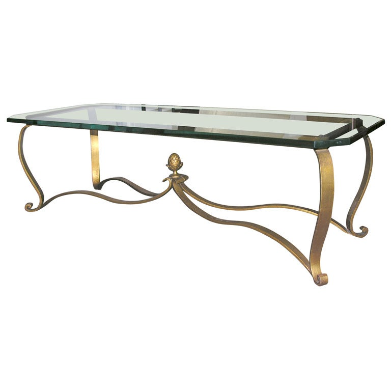 Rectangular glass top coffee table at 1stdibs One of a kind coffee tables