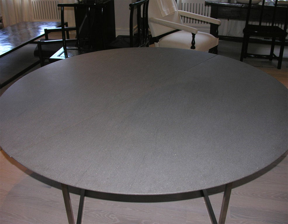 Custom Dining Table w Balsantina Top and Stainless Steel  : DSCN3949 from www.1stdibs.com size 986 x 768 jpeg 100kB