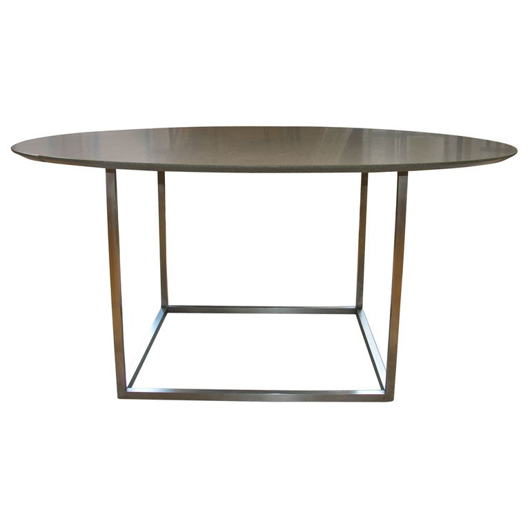 Custom Dining Table w Balsantina Top and Stainless Steel  : x from www.1stdibs.com size 768 x 768 jpeg 22kB