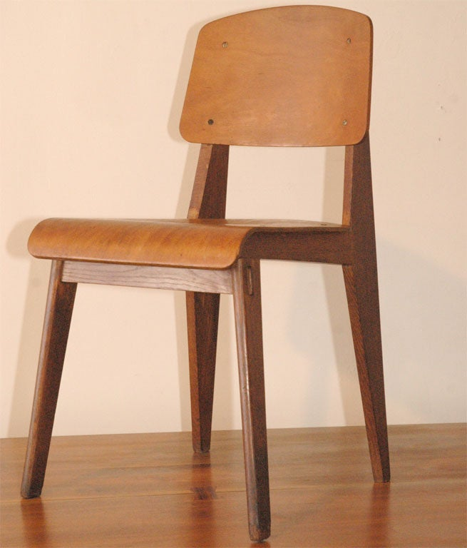 Jean prouve chaise en bois at 1stdibs for Furniture u district
