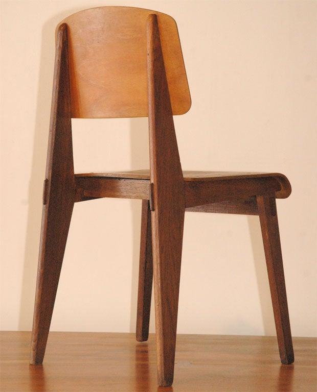 jean prouve chaise en bois at 1stdibs. Black Bedroom Furniture Sets. Home Design Ideas