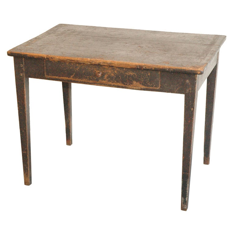 19thc Dark Brown Coffee Farm Table From New England At 1stdibs