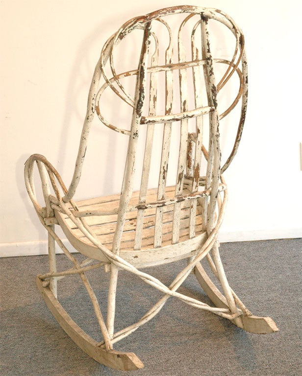 Original White Painted Bentwood Rocking Chair Is No Longer Available
