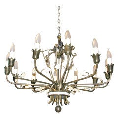 Lord & Taylor Brass Chandelier