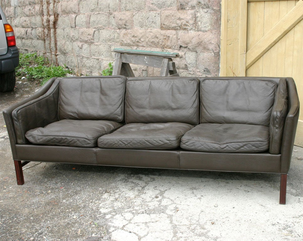 charcoal grey leather sofa at 1stdibs. Black Bedroom Furniture Sets. Home Design Ideas