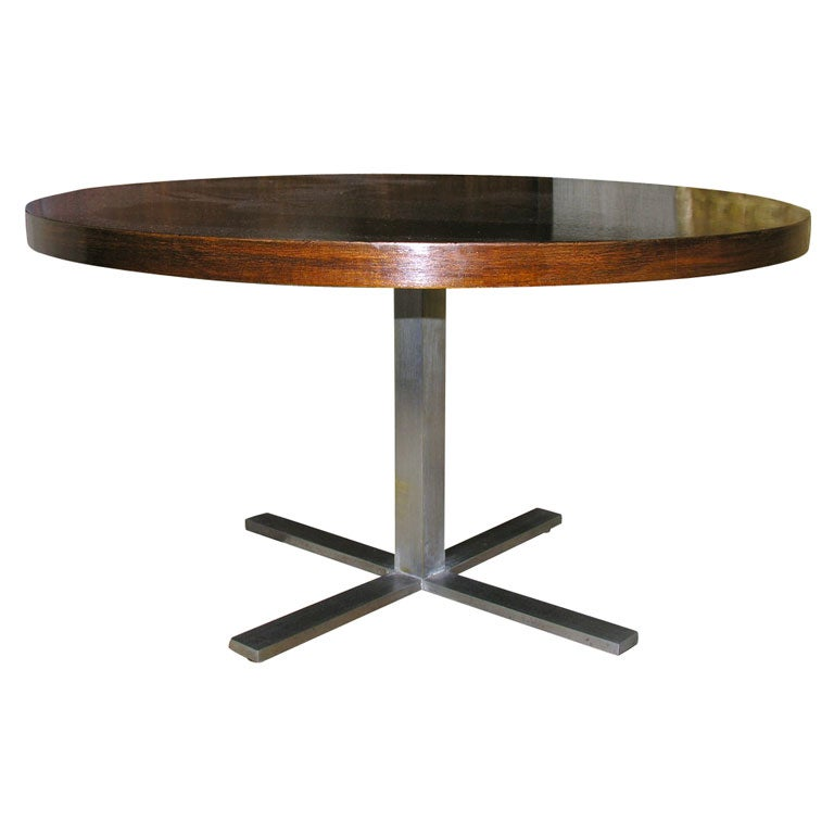 Round Walnut Coffee Table At 1stdibs