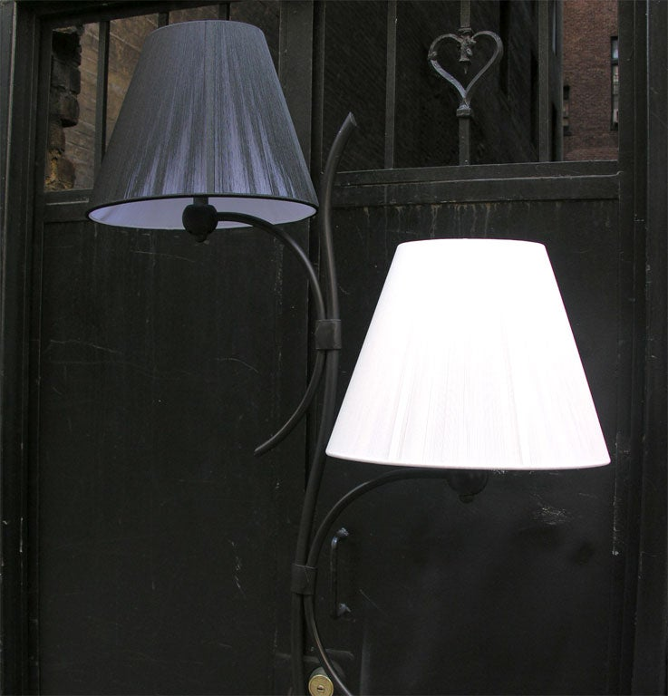 Pair of French Art Moderne Floor Lamps For Sale 2