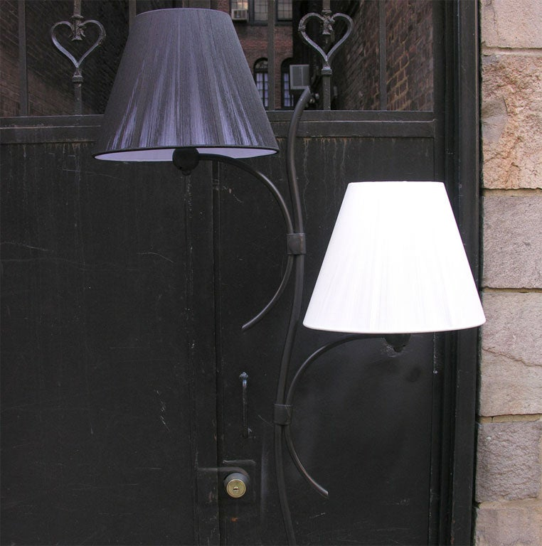 Pair of French Art Moderne Floor Lamps For Sale 1