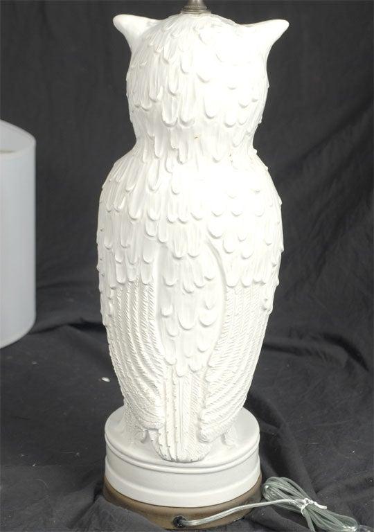 Vintage Ceramic Owl Lamp At 1stdibs