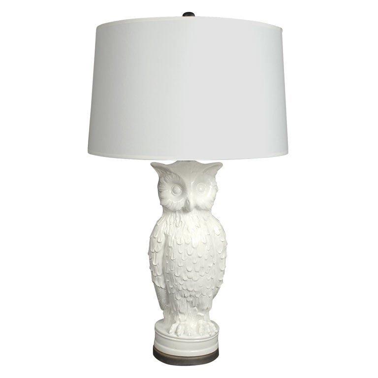 Vintage Ceramic Owl Lamp At 1stdibs