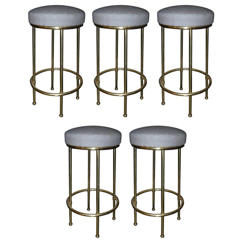 Five 1950s Stools Attributed To Nicolas Duplantier At 1stdibs