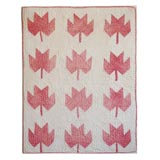 19th Century Maple Leaf Doll Quilt from Pennsylvania