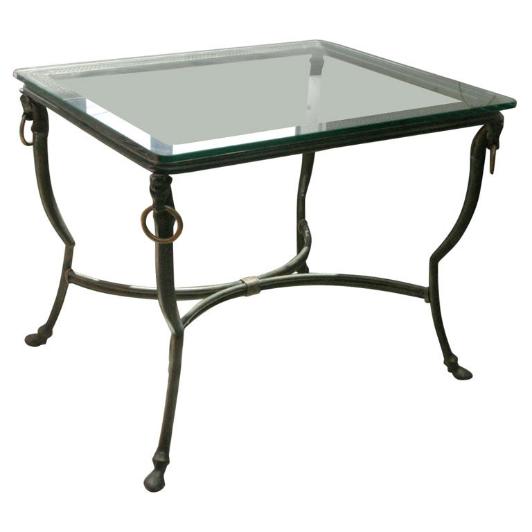 Dark Green Steel Coffee Table At 1stdibs