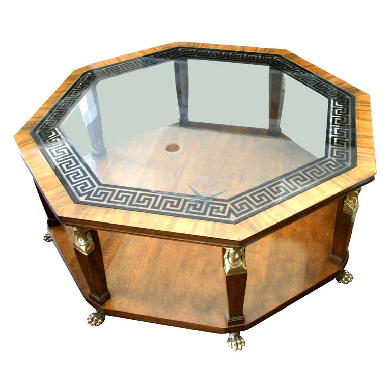A Vintage Baker Octagonal Coffee Table At 1stdibs