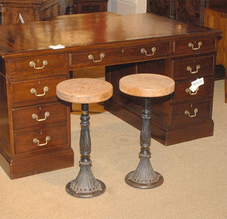 Pair of gold coast bar stools at stdibs