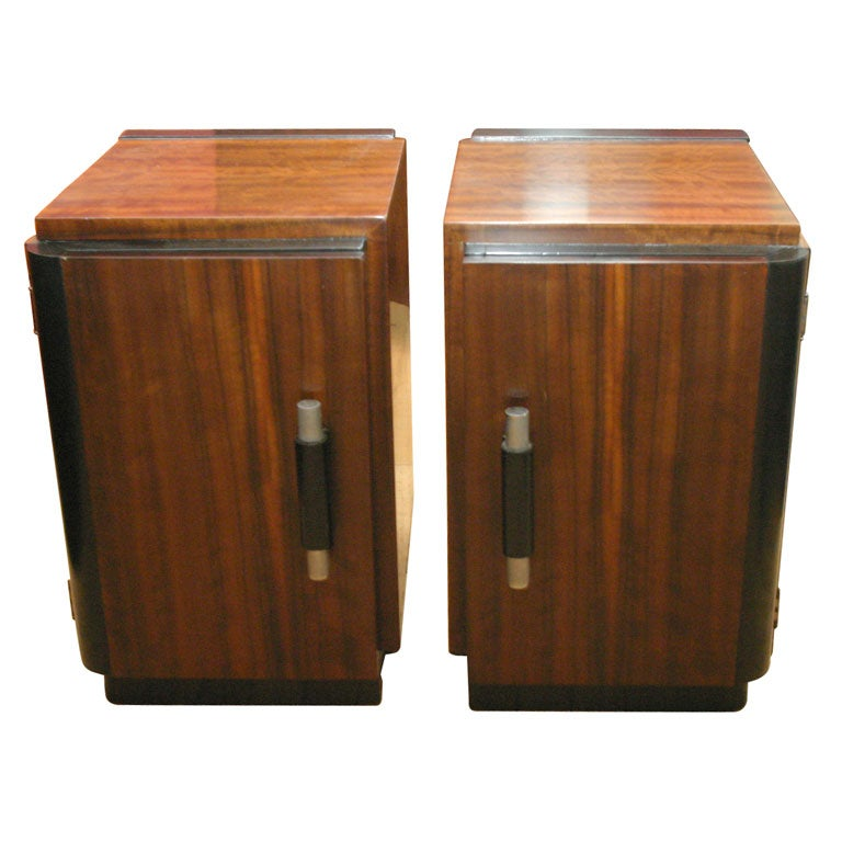 Pair Of Stands By Donald Deskey At 1stdibs