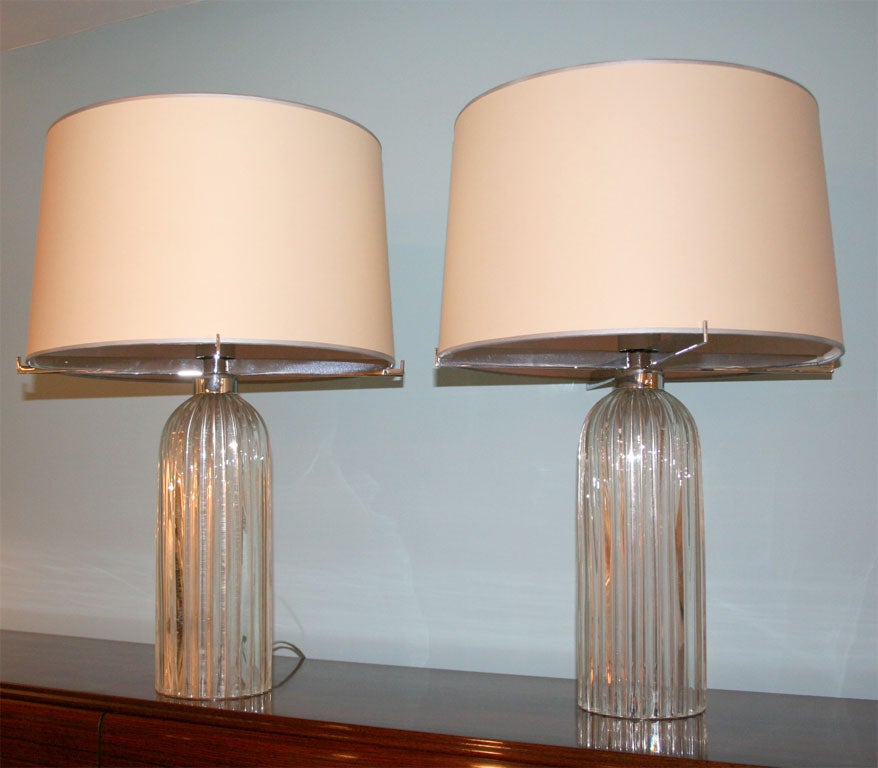 pair of murano glass table lamps at 1stdibs. Black Bedroom Furniture Sets. Home Design Ideas