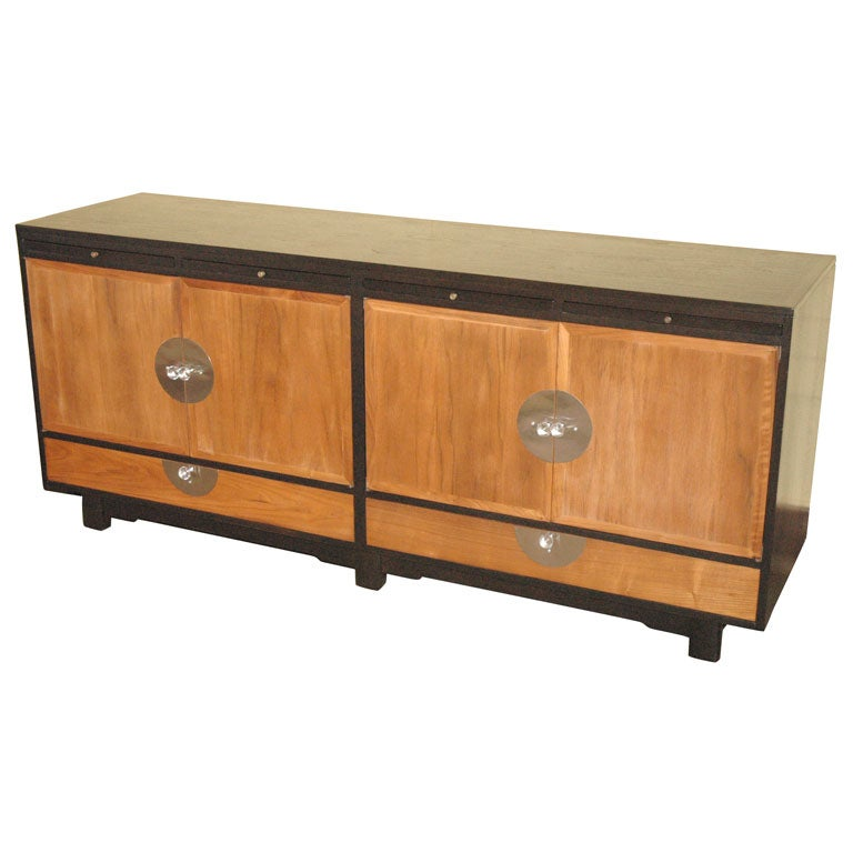 Rare bi colored walnut cabinet at 1stdibs for Bi color kitchen cabinets