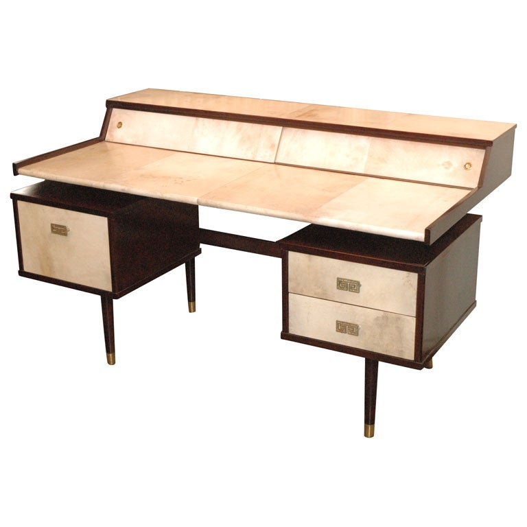 beautiful parchment desk at 1stdibs