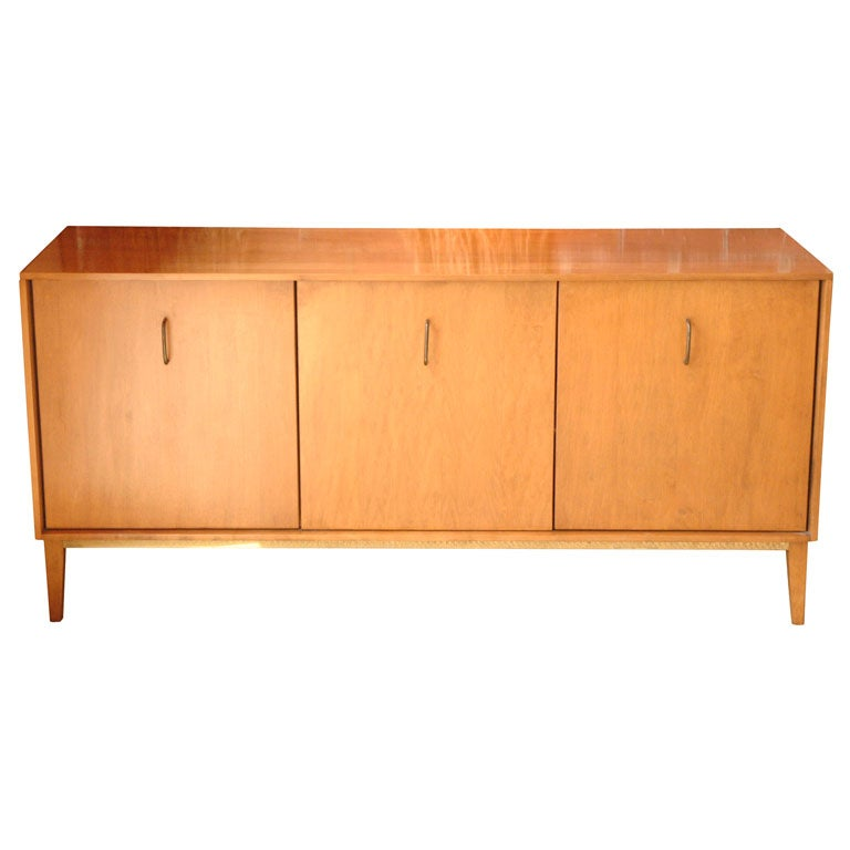 Maple and brass sideboard by milo baughman for murray for Sideboard lindholm