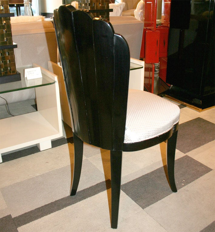 Art Deco Fan Back Vanity Chair At 1stdibs