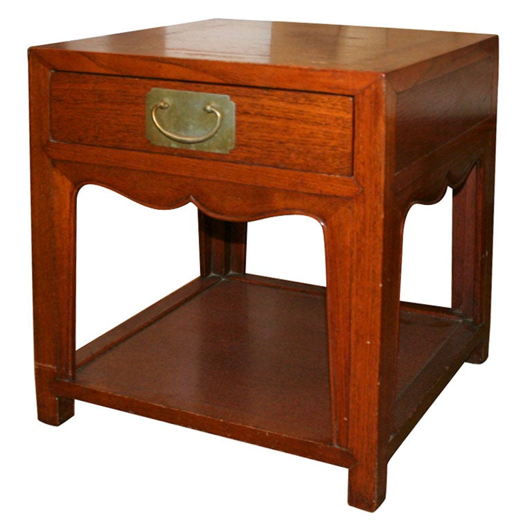 Asian Style Mahogany Side Table At 1stdibs