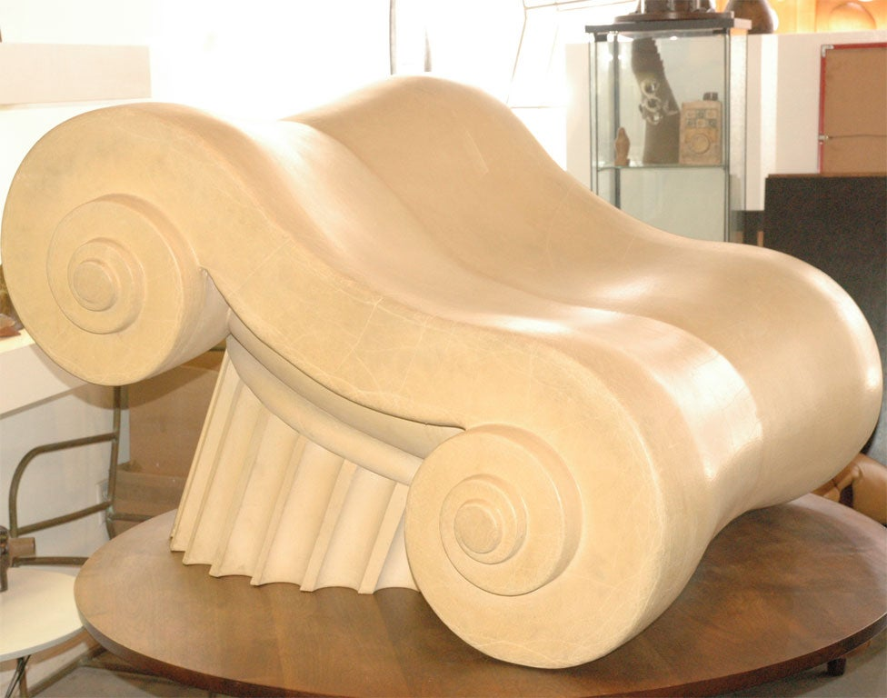 """The """"Capitello"""" became an international cult object in 1972 with the landmark MOMA exhibition, """"Italy : The New Domestic Landscape"""". An early peek at what would come to be called Post-Modernism, the """"Capitello"""" chair was designed by the"""