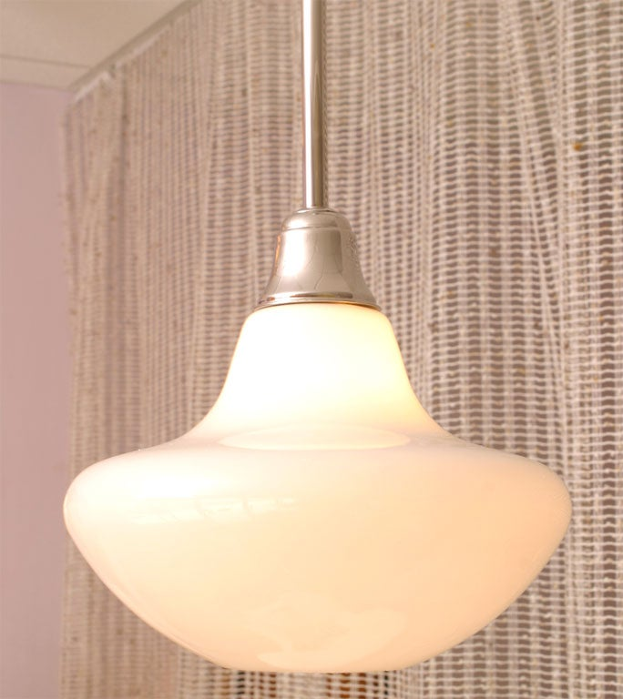 Mid-20th Century SALE! SALE !PR.MID CENTURY  WHITE,ceiling pendants,restored,4 available For Sale