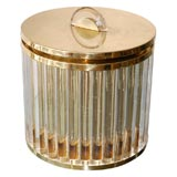 Lorin Marsh brass and lucite ice bucket, signed.