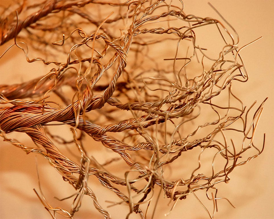 Copper Wire Identification : Copper wire tree sculpture at stdibs