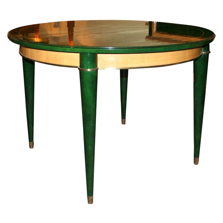 dark green dining table by batistin spade at 1stdibs
