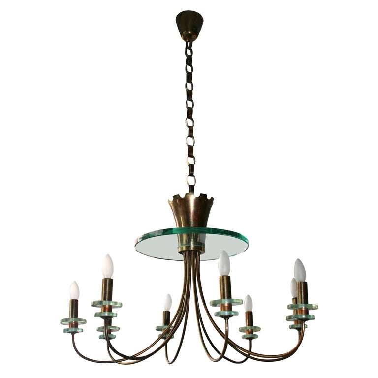 Exceptional Fontana Arte Chandelier At 1stdibs