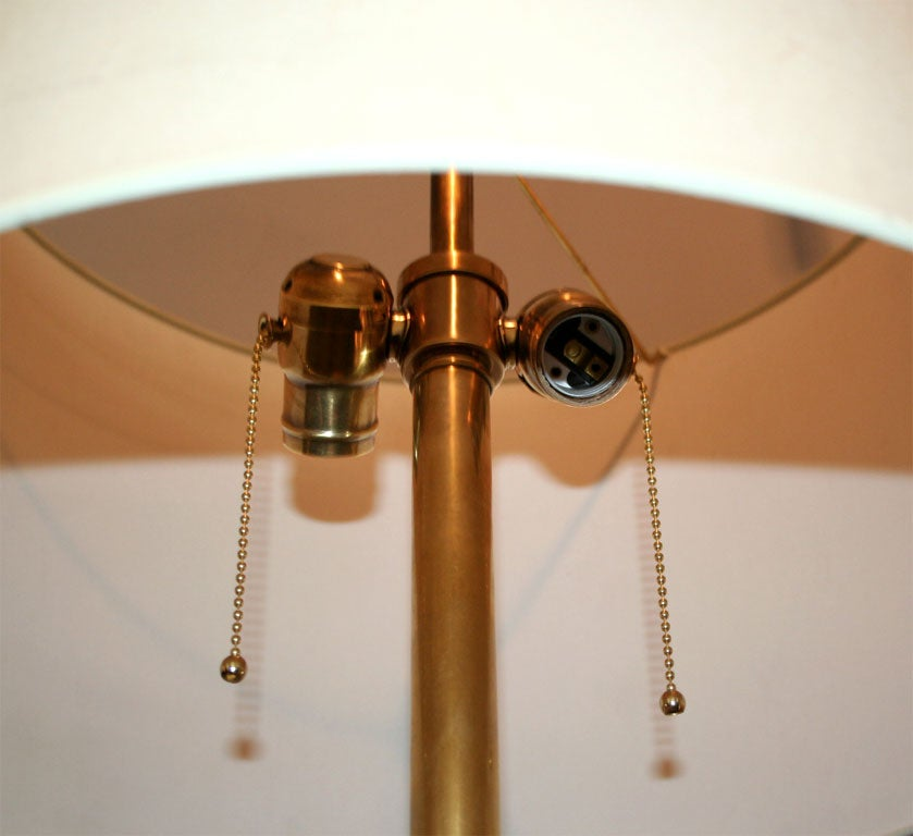 R. Stanton Table Lamps Pair Mid-Century Modern Sculptural Brass, 1974 For Sale 4