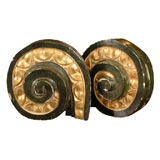 Pair of 19th Century Black and Gilt Scrolled Italian Fragments