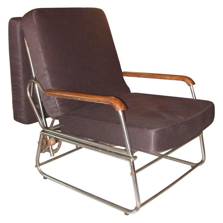 Convertible Arm Chair Chaise Longue at 1stdibs