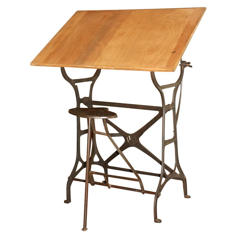 This vintage drafting table by hamilton is no longer available - Adjustable Drafting Table At 1stdibs